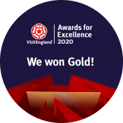 Gold at Visit England Awards 2020 for Self Catering