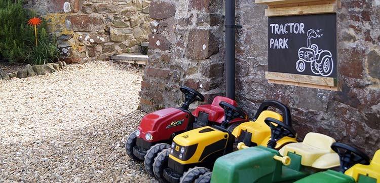 North Hayne Farm tractor park